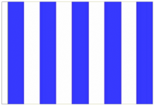 Royal Blue And White Striped 3' x 2' Medium-Sized Sleeved Flag